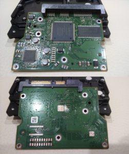 Печатная плата жесткого диска после очистки ластиком