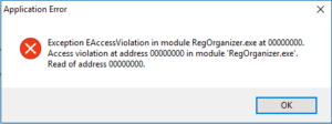 Ошибка при деинсталляции программа в Windows