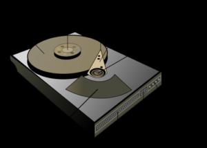 Схема внутреннего устройства жёсткого диска