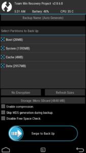 Бэкап системы Android из recovery