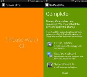 Выполнение программы SDFix на Андроид