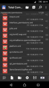 Каталог /system/etc/permissions/ на Android