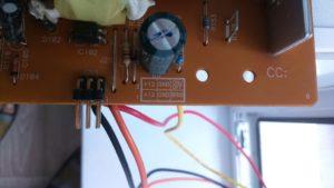 Схема разъёма внутреннего блока питания монитора