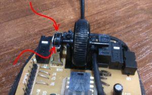 Смазка модуля скроллинга компьютерной мышки
