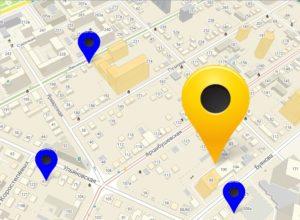Точки GPS на карте