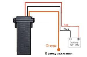 Схема подключения GPS-трекера