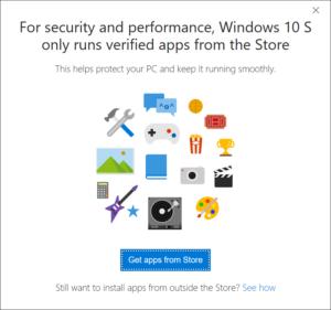 Ограничение на запуск exe-файлов в Windows 10 S