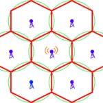 Наглядное изображение принципа работы сотовых сетей