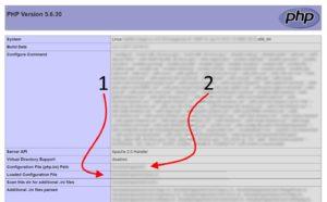 Получение информации о версии и конфигурации php, используемом на сайте