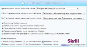 Параметры Potplayer Youtube Shortcut
